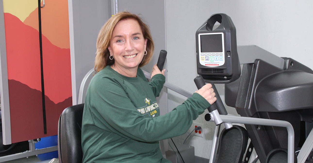 Gym equipment at Excel with patient